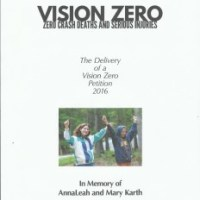 Soon to come: The Delivery of a Vision Zero Petition to Washington, DC