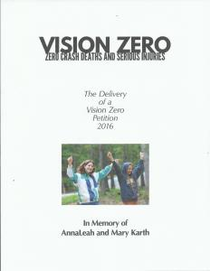 Vision Zero Petition Book Cover