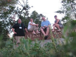 I studied journalism at the University of Missouri– Columbia. Here I am in the summer of 2011 with some of my classmates.