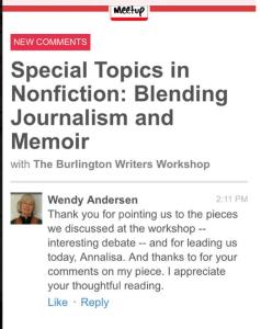 Annalisa Parent Vermont Author Writer Memoir Workshop