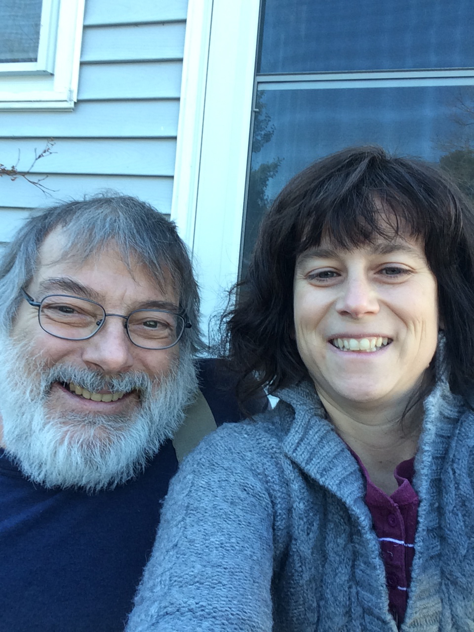 Annalisa Parent and Rene Kirby, two of the co-writers of Plymouth Rock, hanging out in Vermont