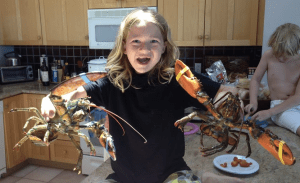 Leo offered an appreciation to the lobsters right before he cooked them.