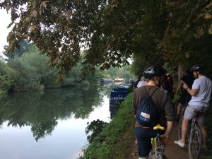 Bikes by the river