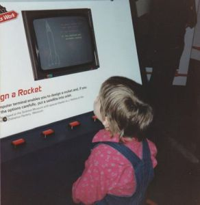 Looking at how to design a rocket at a museum as a child