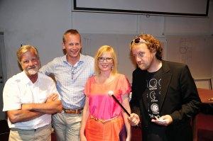 Gunnar Bjursell, Joakim Ramsberg, jag och Martin Q Larsson