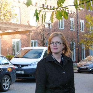 Anna Starbrink vid Astrid Lindgrens barnsjukhus.
