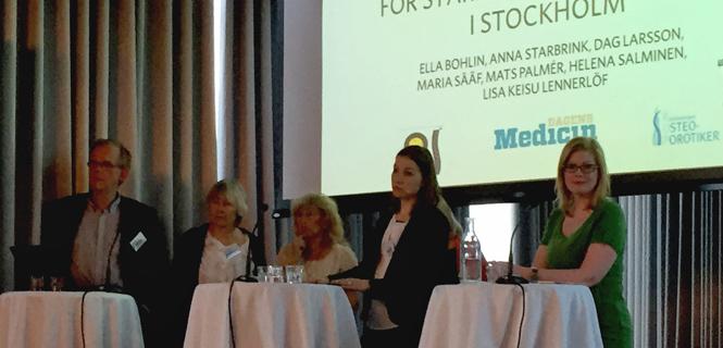 Anna Starbrink deltar i panelsamtal om osteoporos