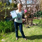 Gay McK with certificate