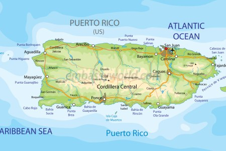 Map Pr - Puerto rico and us map