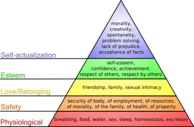 chart showing ladders of needs
