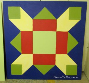 Barn Quilt Optical Illusion