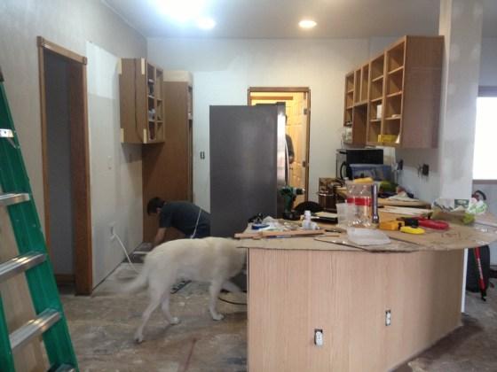 More kitchen destruction.