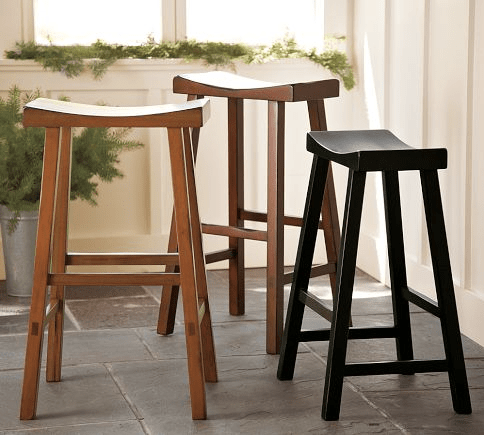 Pottery Barn's popular Tibetan Barstool ranges from $99 to $119 a piece.