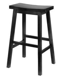 "Wal-Mart's 29"" Saddle Seat Stool in Black."