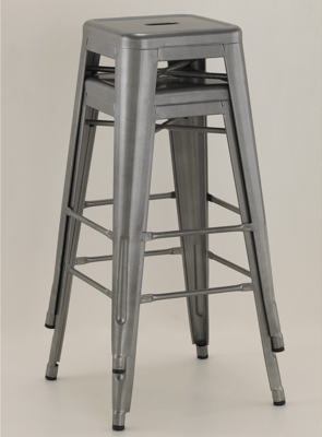 "Our former bar stools - the Tabouret 30"" bar stools from Overstock.com. A bargain at $99.99 for the pair."