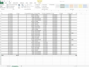 Using Excel Tables