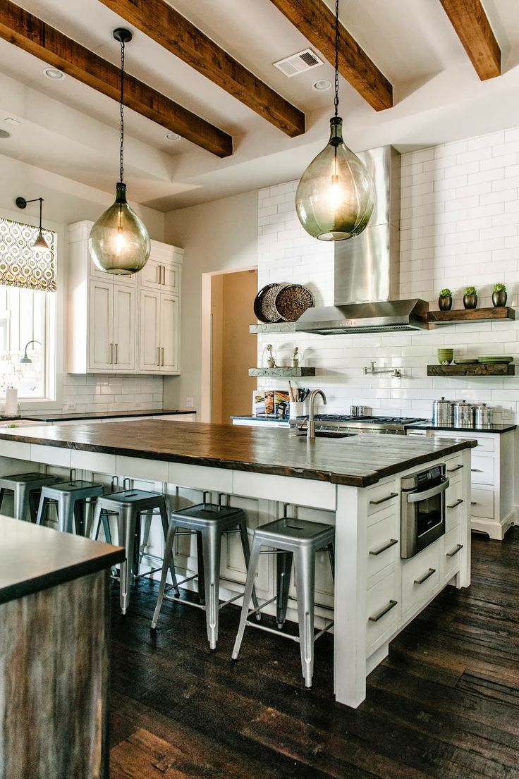 rustic plank design inspiration rustic kitchen lighting Rustic wood kitchen inspiration KitchAnn Style