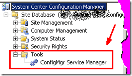 tools 2 tools system center configuration manager system center 2012 configuration manager sccm 2012 sccm console configmgr2012 configmgr sccm cm2012  Where is Tools ConfigMgr Service Manager Option in CM 2012 Console