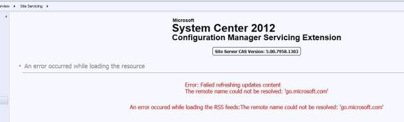 CM12 Service Extension Tool Error