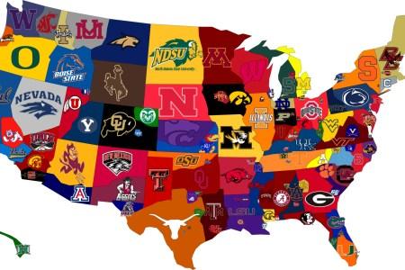 cartoon map of united states