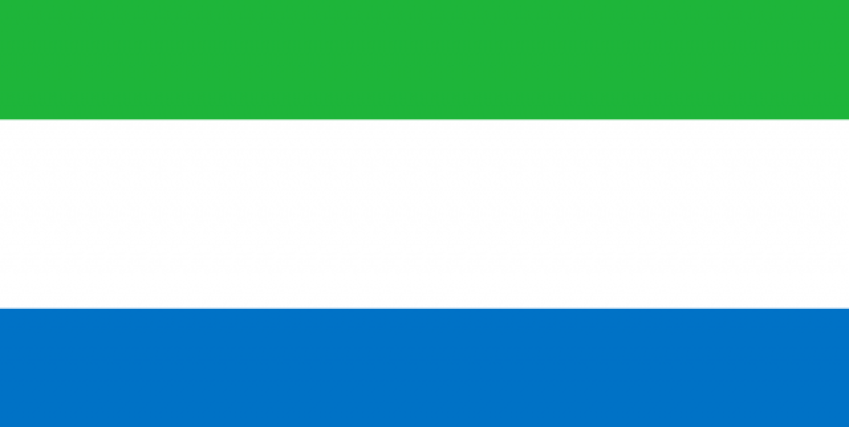 Flag of Sierra Leone - Africa's poorest countries