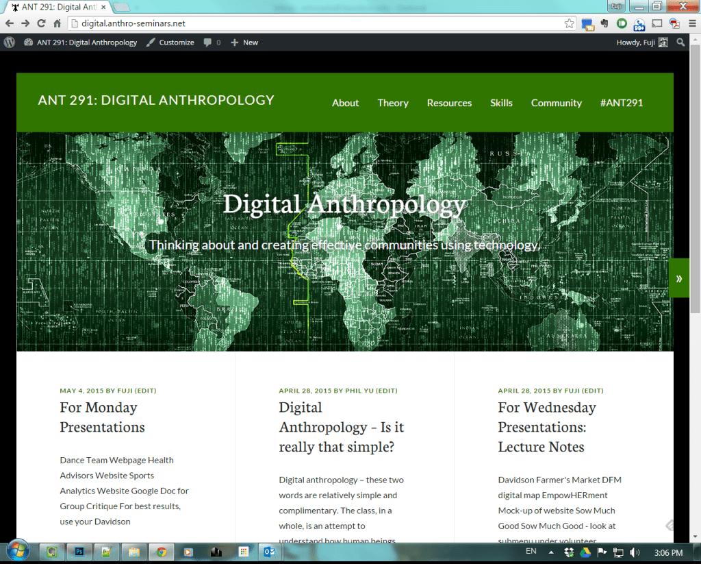 ANT 291: Digital Anthropology