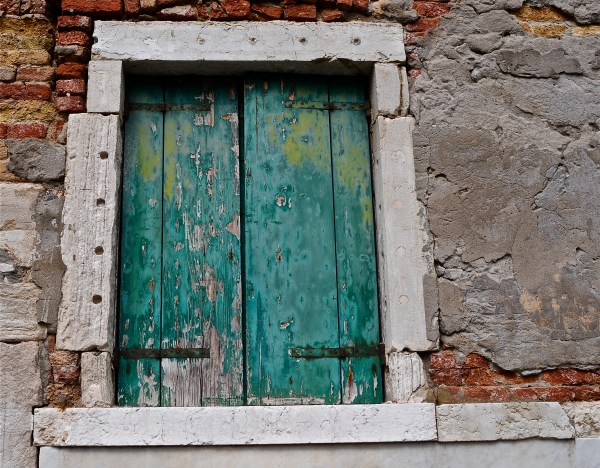 Old window shutters, venice, Italy
