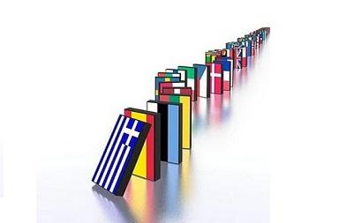 Σε ντόμινο μπορεί να εξελιχτεί η κρίση στην Ευρωζώνη.