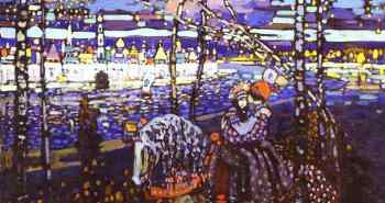 Couple-Riding-Black-and-Violet-Wassily-Kandinsky-1906