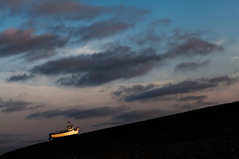 Παραλία Dungeness  κατά το ηλιοβασίλεμα, @Alan O'Riordan