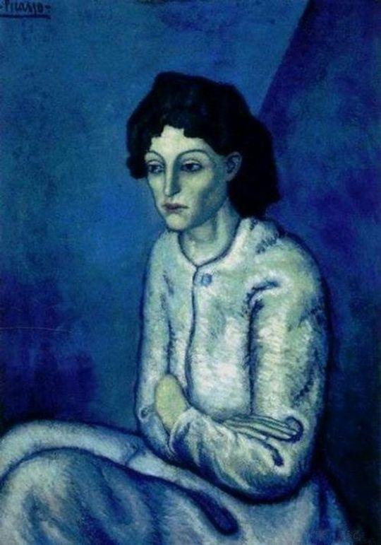 Γυναίκα με σταυρωμένα χέρια - 1906.  Πιστεύεται ότι είναι μία τρόφιμος του νοσοκομείου Saint -Lazare των φυλακών του Παρισιού. Το 2000, πουλήθηκε σε δημοπρασία του οίκου Christie's σε ανώνυμο αγοραστή για 55 εκατομμύρια δολάρια.