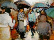 Πίνακες και ποιήματα με θέμα την βροχή