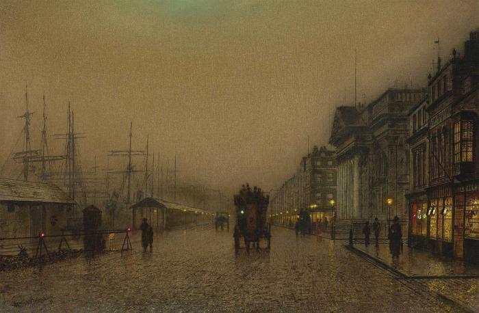 Salthouse Dock, Liverpool- John Atkinson Grimshaw
