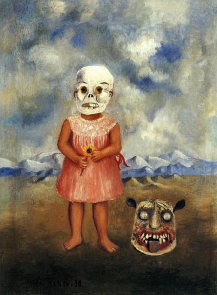 Κορίτσι με μάσκα θανάτου (παίζει μόνη) - Frida Kahlo 1938