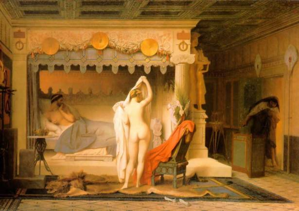 King Candaules of Lydia - Jean-Leon Gerome, 1858