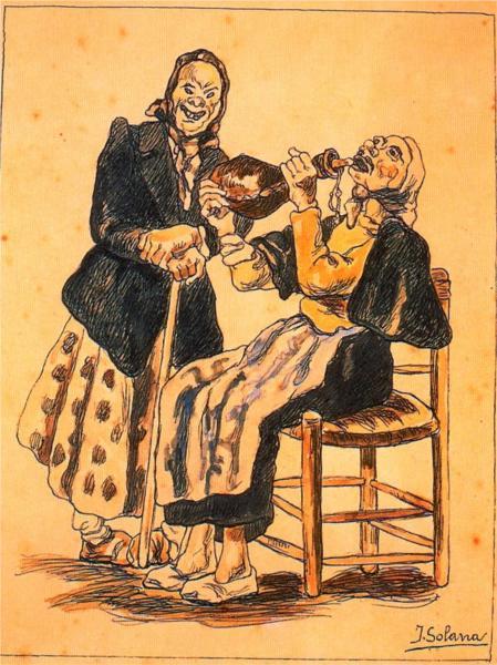 μασκαράδες πίνουν- Jose Gutierrez Solana 1920