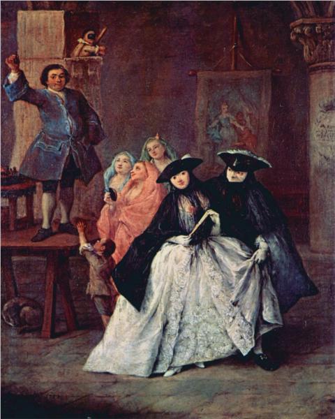 Οι τσαρλατάνοι - Pietro Longhi 1757 (ροκοκό)