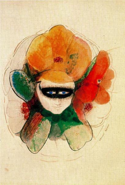 η μασκαρεμένη ανεμώνη -Odilon Redon