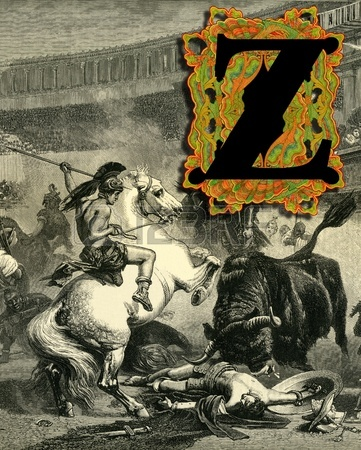 12937828-luxurious-victorian-initials-letter-z-after-a-engraving-a-bull-fight-edited-by-the-graphic--london-c