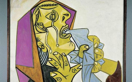 Η «Γυναίκα που κλαίει» του Πάμπλο Πικάσο επιδεικνύει με τα δάκρυά της τις βαθιές συναισθηματικές σχέσεις που έχει με τον κόσμο της.