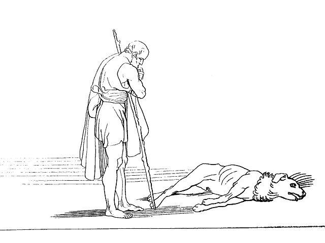 John Flaxman - Από την Οδύσσεια του Ομήρου , Houghton, Mifflin & Co., Riverside Press, 1905