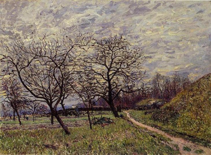 ένα πρωινό του Δεκέμβριο - Alfred Sisley - 1882