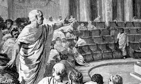 Cicero addressing the Roman Senate