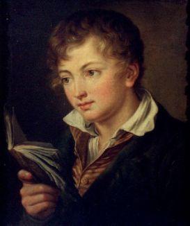 αγόρι με βιβλίο -  Vasily Tropinin
