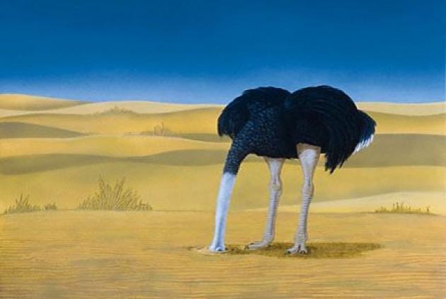 Μια κοινωνία, συνηθισμένη να βάζει το κεφάλι στην άμμο, πιστεύοντας ότι θα κρύψει «τις πομπές της», όπως είναι η συνηθισμένη έκφραση από αρχαιοτάτων χρόνων