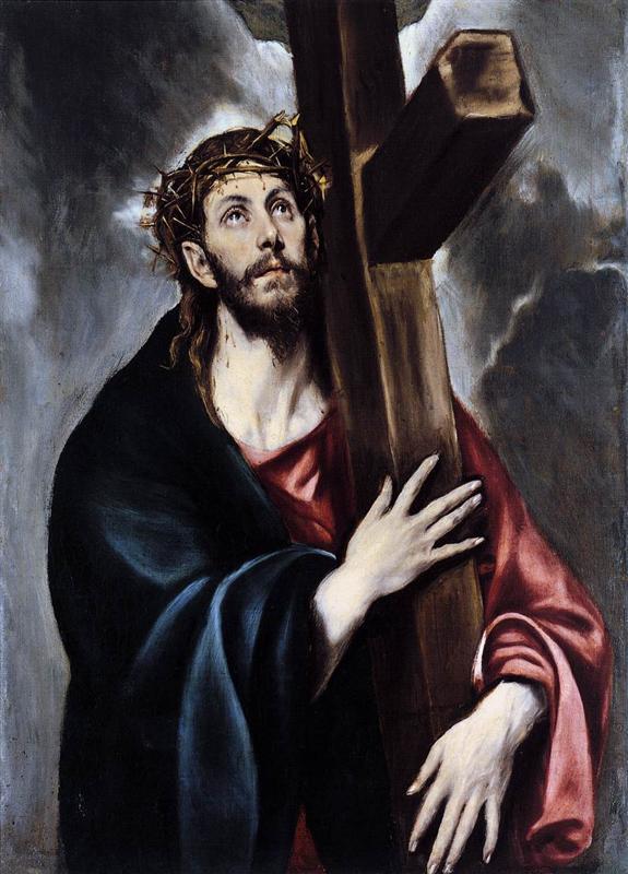 Ο Χριστός κουβαλάει το σταυρό 1578