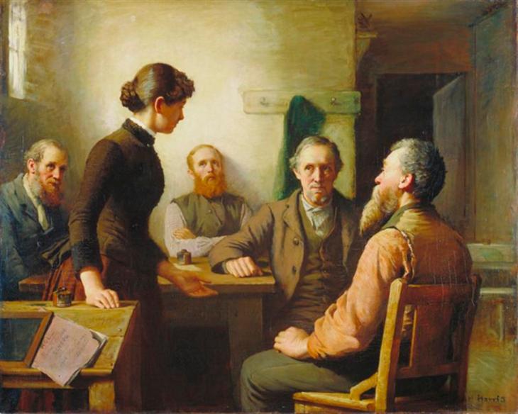 Συνάντηση επιτρόπων του σχολείου- Robert Harris 1885