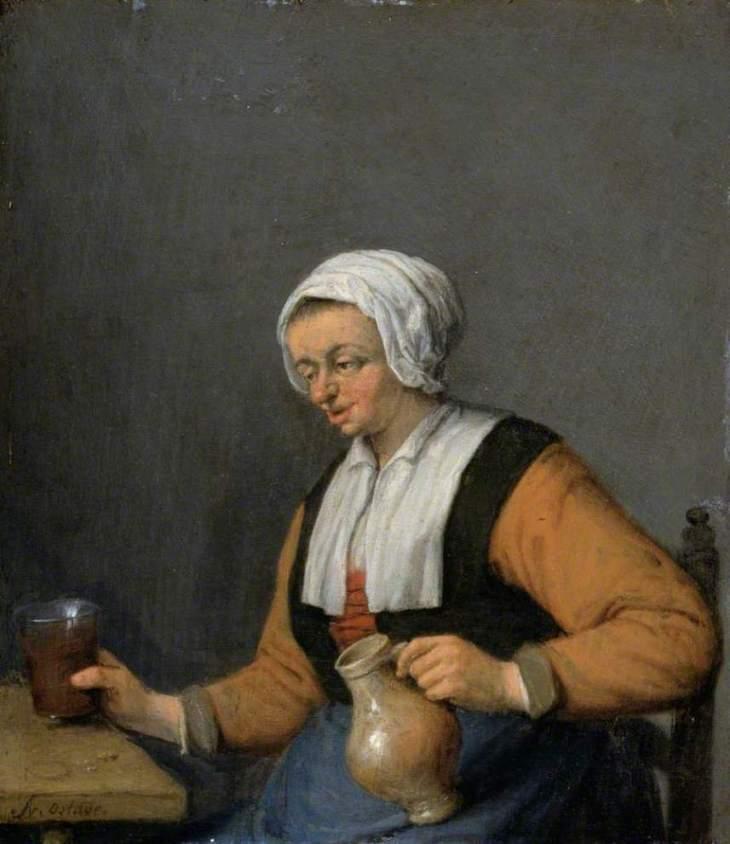 γυναίκα με μια κανάτα μπύρα -Adriaen van Ostade - 1670
