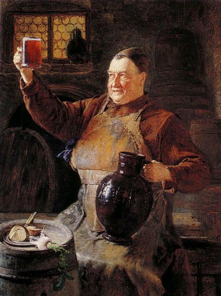 Μοναχός δοκιμάζει Μπύρα - Eduard von Grützner