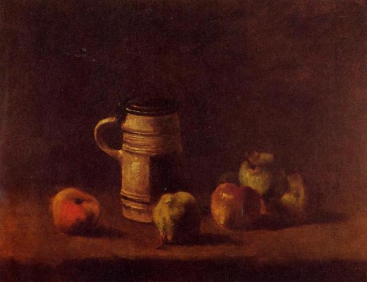 Νεκρή φύση με Μπίρα και Φρούτα - Vincent van Gogh - 1881